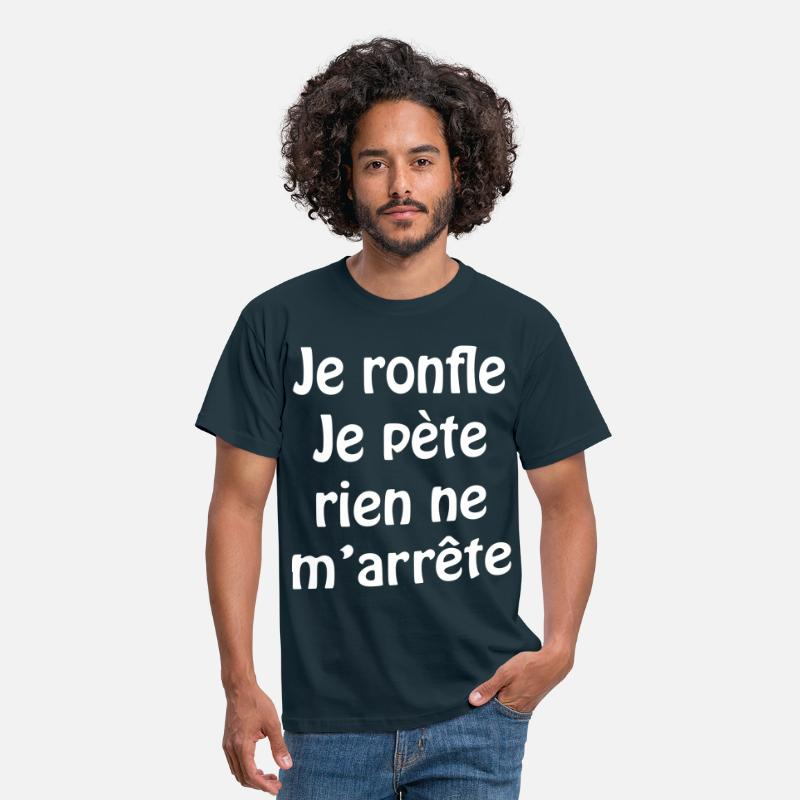 Ronflement T-shirts - Je ronfle... - T-shirt Homme marine