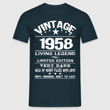 VINTAGE 1958-LIVING LEGEND - Men's T-Shirt