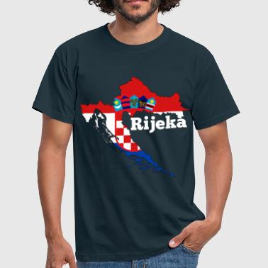 Rijeka Croatia map bright - gift - Men's T-Shirt