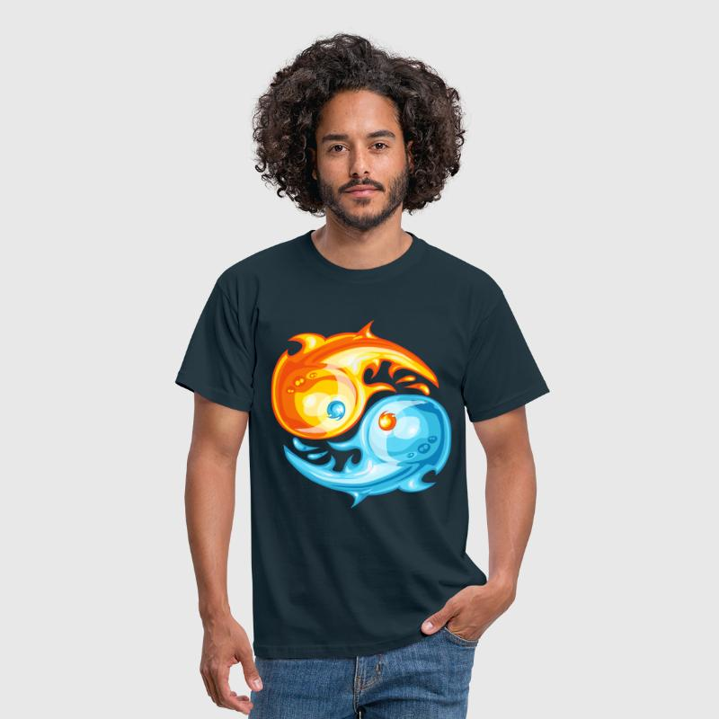 FIre and ice yin yang - T-shirt Homme