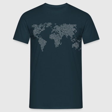 Wereld Code World in Figures  - Mannen T-shirt