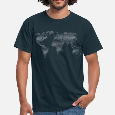 Wereldkaart Wereld Code World in Figures  - Mannen T-shirt