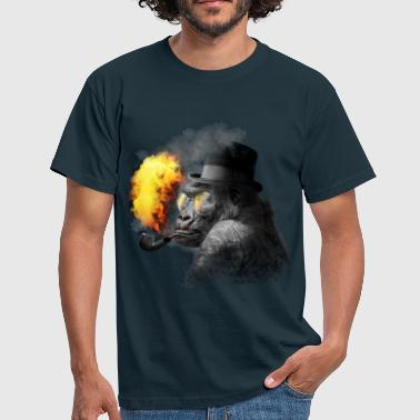 Smoking monkey - Men's T-Shirt