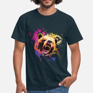 Matt Black Bear Design - Men's T-Shirt