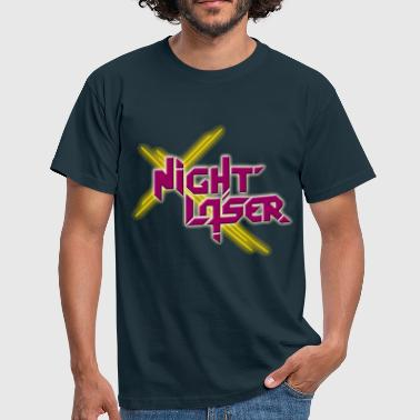 Night Laser Bandlogo - Klassik - Männer T-Shirt