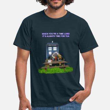 TIME AND SPACE AND TEA - Men's T-Shirt