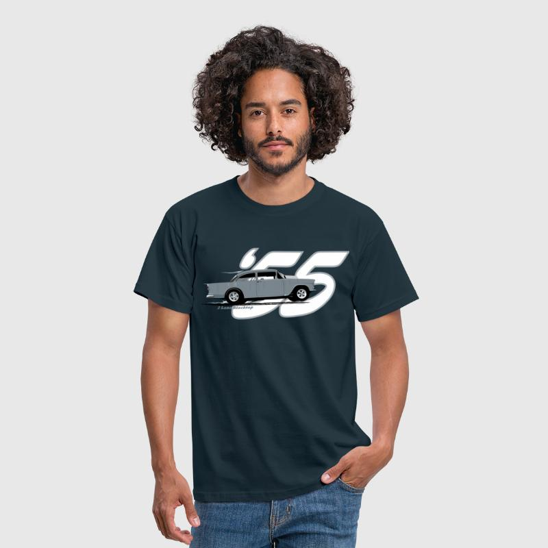 2 Lane Black Top '55 Chevy - Men's T-Shirt