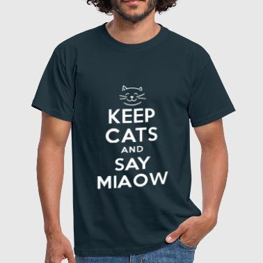 CAT 1- Say Miaow - Men's T-Shirt