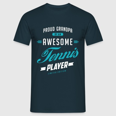Grandpa Awesome Tennis - Men's T-Shirt