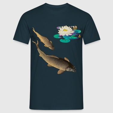 Kois with water lily - Men's T-Shirt