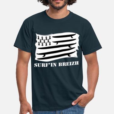 0c4d2d63c88ff Surf GWENN HA DU - SURF'IN BREIZH - BRETAGNE - BZH -. T-shirt Homme