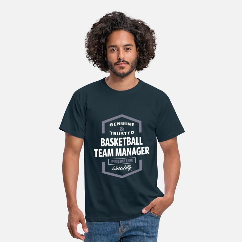 Basketball T-Shirts - Basketball Team Manager Logo Gift Ideas - Men's T-Shirt navy