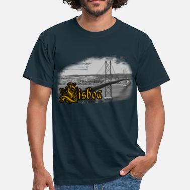 Abril Lisbon bridge - T-shirt Homme
