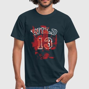 Wild 13 used look bloody Zombie Attack - Männer T-Shirt