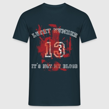 Lucky Number 13 used look - Männer T-Shirt