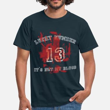 Lucky 13 Lucky Number 13 used look - Männer T-Shirt