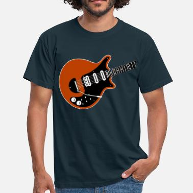 Brian red guitar t-shirt - Men's T-Shirt