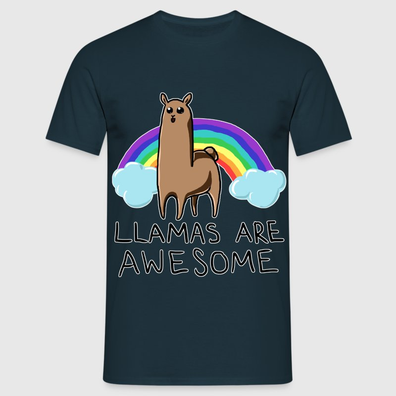 Llamas are awesome - Men's T-Shirt