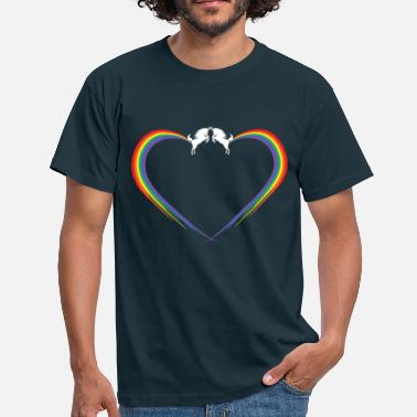 Fart Rainbow unichorn rainbow fart heart - Men's T-Shirt