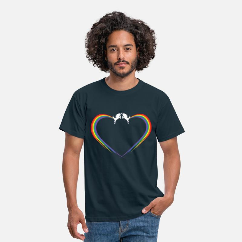 Love T-Shirts - unichorn rainbow fart heart - Men's T-Shirt navy