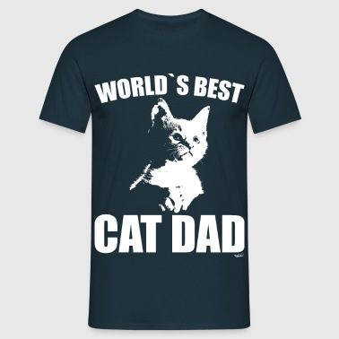 World`s best cat dad - Männer T-Shirt
