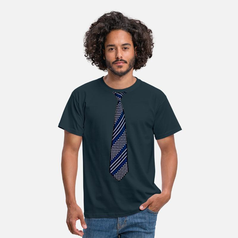 Fake T-Shirts - tie 5 - Men's T-Shirt navy