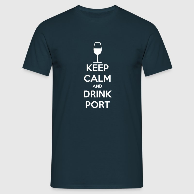 Keep Calm and Drink Port - Mannen T-shirt