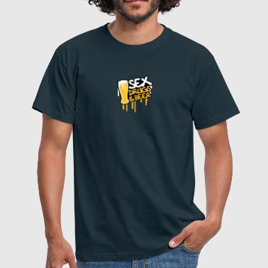 Sex Beer Sex Drugs And Beer - Mannen T-shirt