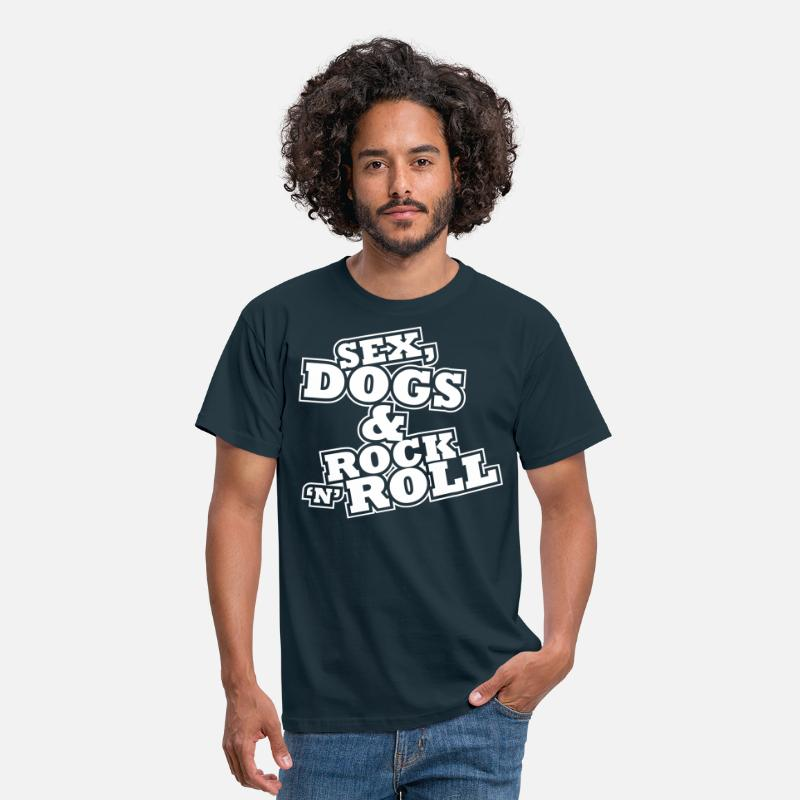 Dog T-Shirts - Sex, Dogs & Rock n Roll - Men's T-Shirt navy