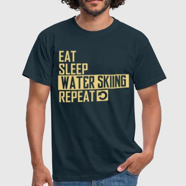 eat sleep water skiing - Männer T-Shirt