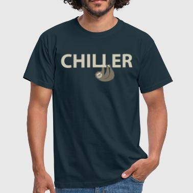 Sloth as a chiller - Men's T-Shirt