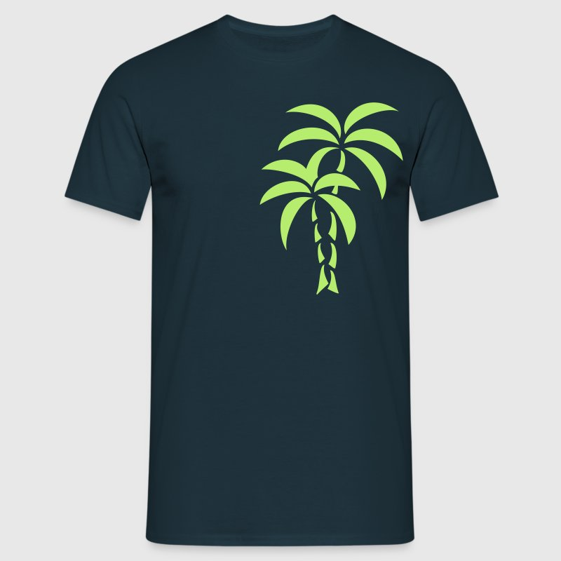 Palm Tree / Tattoo Style / Vector / - Mannen T-shirt