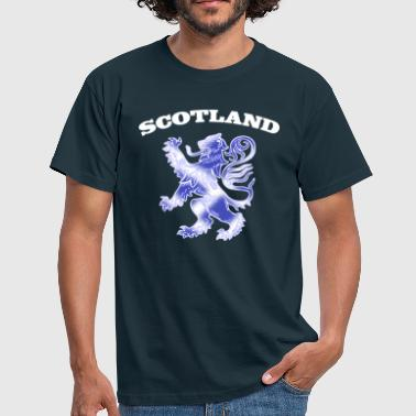 Lion Rampant Scotland with Lion Rampant and Saltire Flag - Men's T-Shirt
