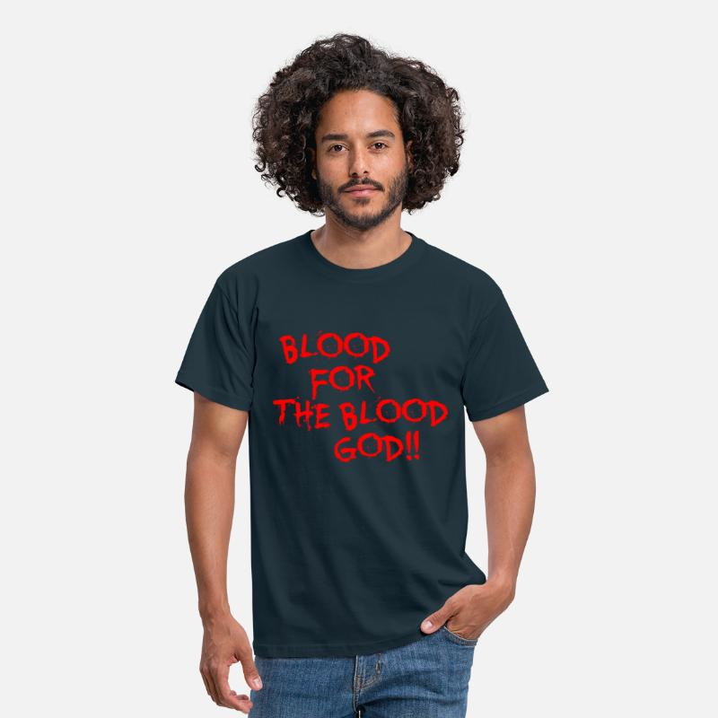 40k T-Shirts - Blood for the Blood God - Men's T-Shirt navy