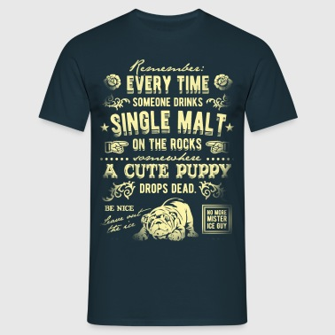 Single Malt on the Rocks - Männer T-Shirt
