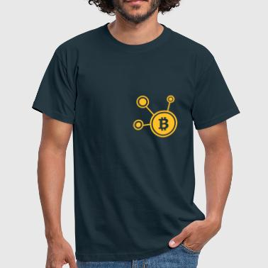 Bitcoin, Symbol, Sign, Ticker, BTC, Blockchain - T-shirt herr