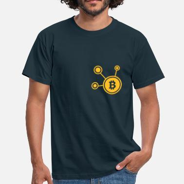Ticker Bitcoin, Symbol, Sign, Ticker, BTC, Blockchain - Men's T-Shirt