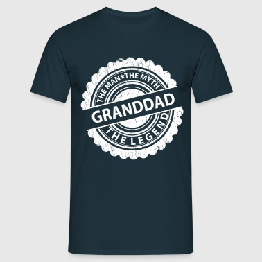 Granddad-The Man The Myth The Legend  - Men's T-Shirt