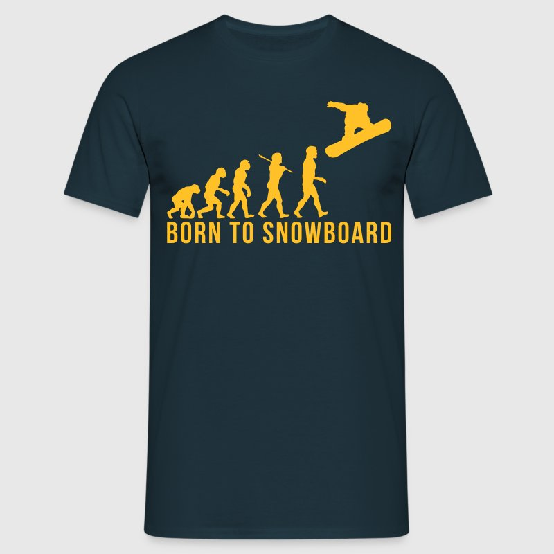 snowboarding evolution born to snowboard - T-shirt Homme