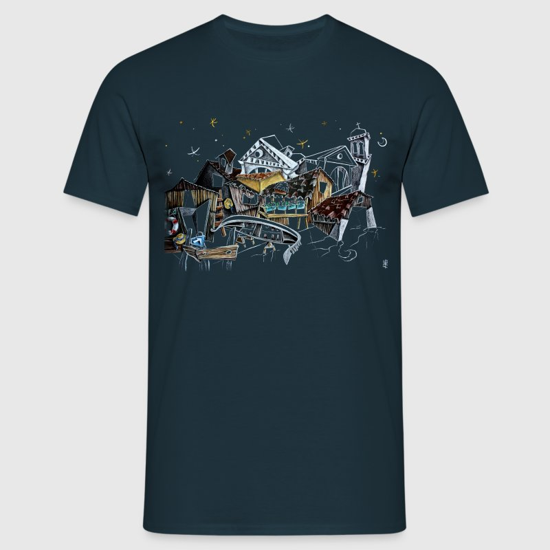 Venice T-shirts - Gondola Night Dream - Fashion Italy - Men's T-Shirt