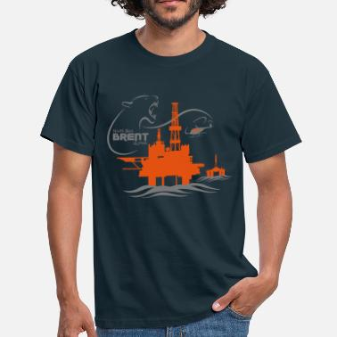 Rig Brent Alpha Oil Rig North Sea Aberdeen - Men's T-Shirt