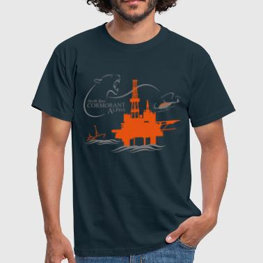 Rig Cormorant Oil Rig North Sea Aberdeen - Men's T-Shirt