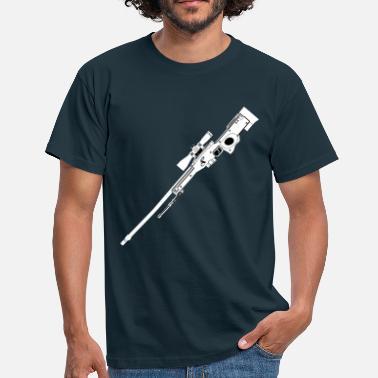 Prickskytt AWP Rifle Black - T-shirt herr