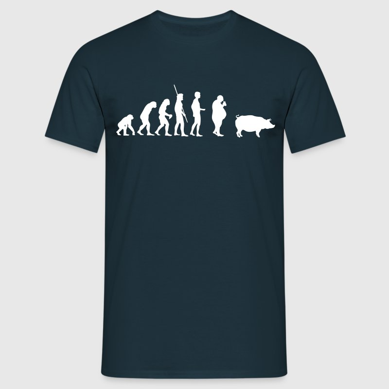Evolution Pig  - Men's T-Shirt