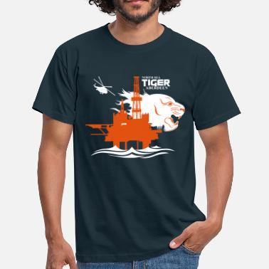 North Sea Tiger North Sea Tiger Oil Rig Platform Aberdeen - Men's T-Shirt