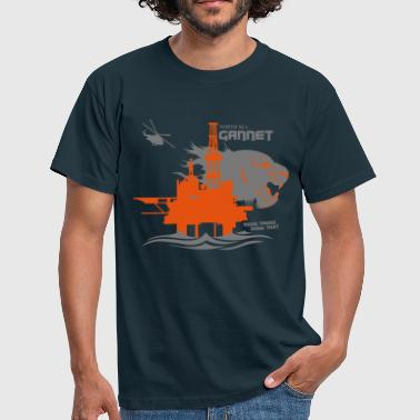 Aberdeen Gannet North Sea Oil Rig Platform Aberdeen - Men's T-Shirt