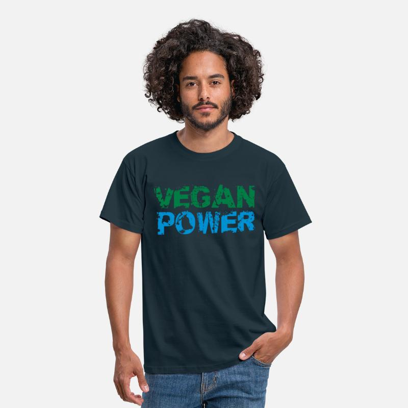 Animal Welfare T-Shirts - Vegan Power Logo - Men's T-Shirt navy
