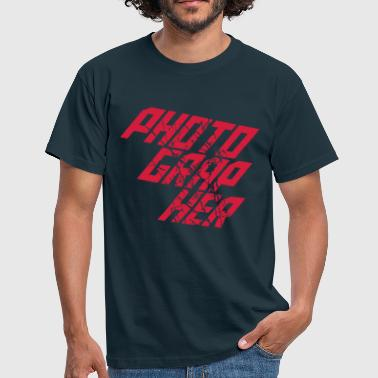 Photographer Cool Text Logo - Men's T-Shirt