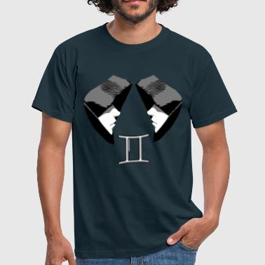 Gemini horoscope gemini sad symbol - Men's T-Shirt