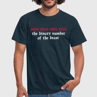 666 - satan - devil - the binary number of the beast - Herre-T-shirt